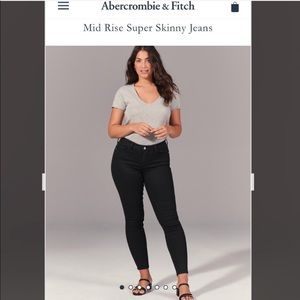 NWT Abercrombie & Fitch Super Skinny Midrise Jeans